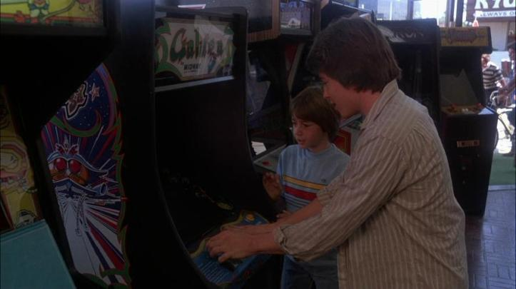 Lightman playing Galaga in WarGames, ready player one video games, www.nerdatron.com